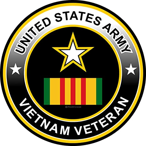 4 American Pride Series Vietnam Veteran One ProSticker 1053 US Army Service Metal Flag Decal Sticker
