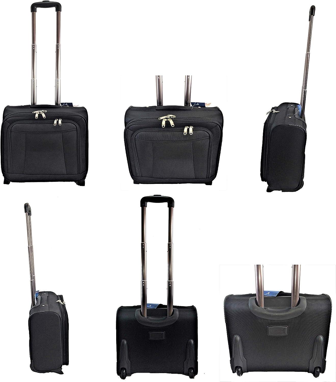 Maleta Trolley Ejecutivo, Ordenador. Trolley para portátil. 41x37,5x22cms. Color: Negro.