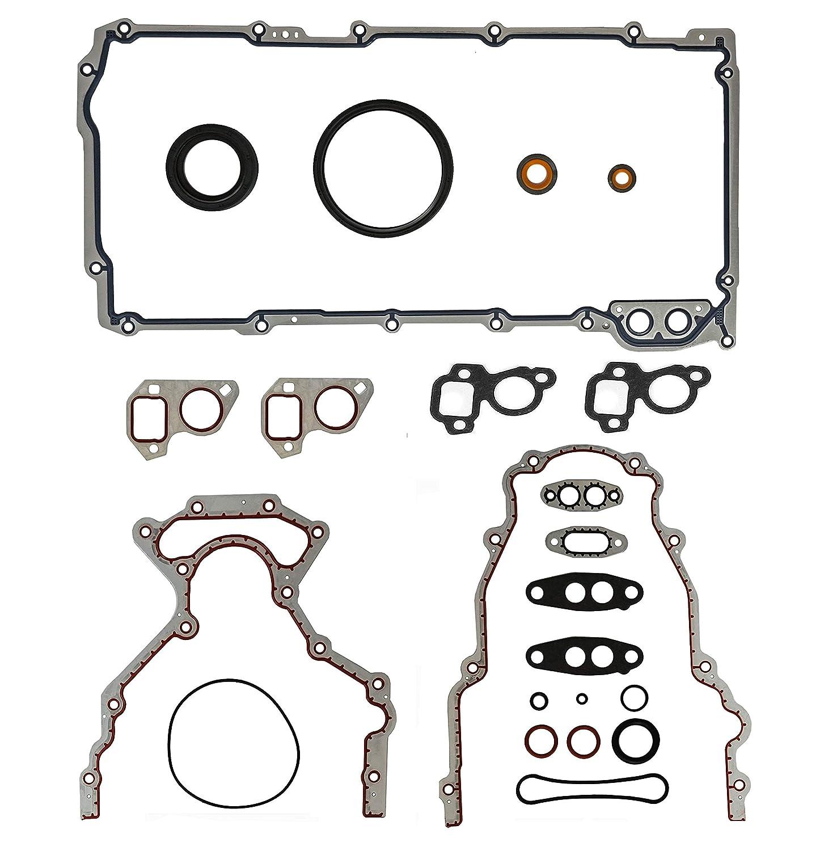 ERISTIC EDG0050 Lower Conversion Gasket Set For 1999-2014 Chevy GMC Buick Cadillac Pontiac 4.8 5.3 6.0 6.2 (Bottom End Gskts.) CADA Industrial CO. LTD.