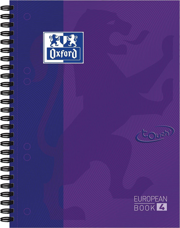 5 St/ück-Packung Umschlag Farbenmix Karo OXFORD 400075022 TOUCH A4-Kladde 96 Bl/ätter
