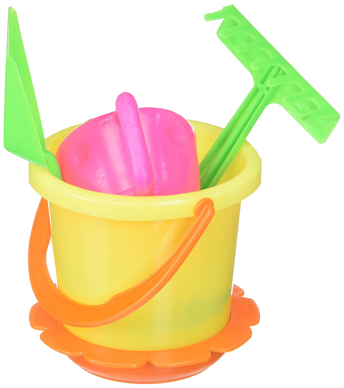 McToy Educational Products - 6 Piece Sandbox Beach Set - Bucket, Shovel & more. [Toy] - Sandbox Beach set includes 6 pieces BTBESET