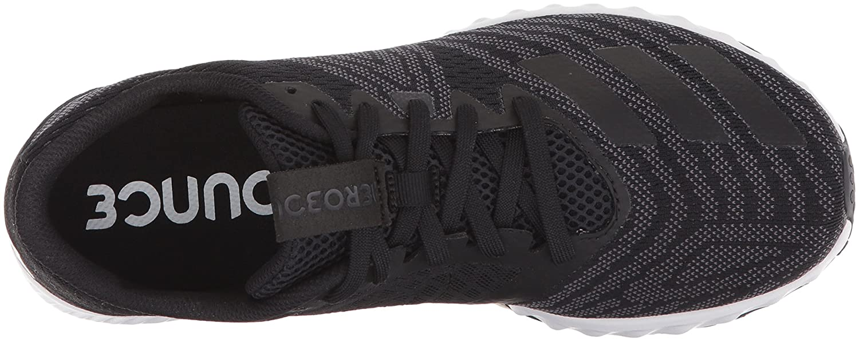 adidas Women's Aerobounce Pr w Running Shoe B075R8FG6W 12 B(M) US|Core Black, Silver Met, Ftwr White