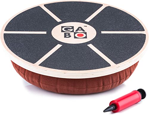 GABO Board – Infinitely Adjustable Wooden Wobble Balance Trainer – Free eBook – Improve Your Balance, Improve Your Life