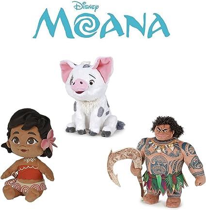 Amazon.com: Moana – Juego de 3 de peluche juguete Vaiana ...