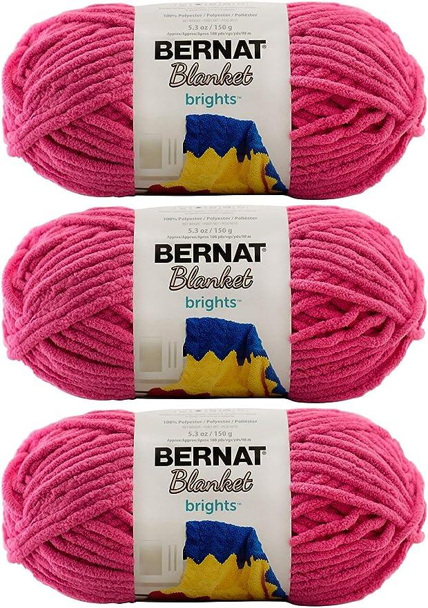 10.5 Ounce Single Ball Pixie Pink Bernat Blanket Brights Big Ball Yarn
