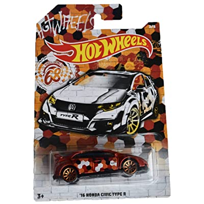 Hot Wheels 68th Racing Club '16 Honda Civic Type R 2/5, red: Toys & Games