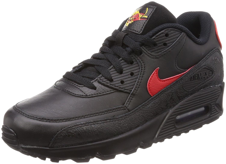 NIKE Men's Air Max 90 F Running Shoes B079PRPKY8 12 D(M) US|Black/University Red