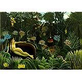 Henri Rousseau: The Dream. Fine Art Print/Poster. Large Size A1 (84.1cm x 59.4cm)