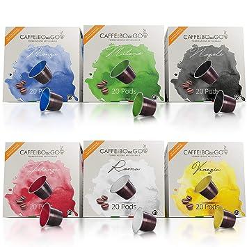 Nespresso Compatible (120 Count) Italian Espresso Capsules — 6 Flavor  Variety Pack or
