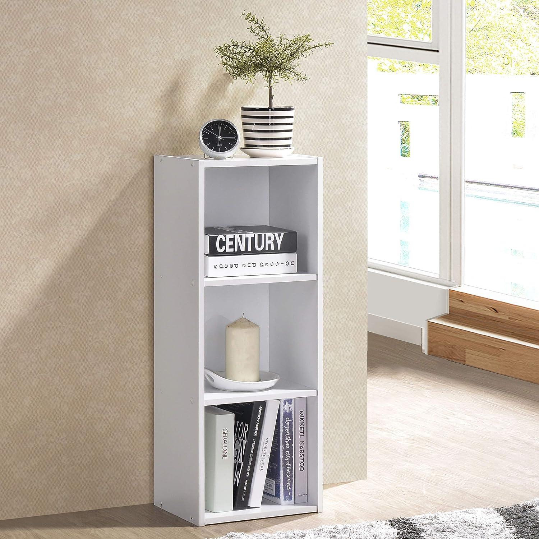 Fortress 3-Tier Shelf Bookcase White