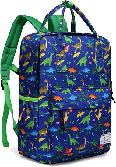 Kids Backpack, Kasqo Lightweight Water Resistant Preschool Rucksack for Little Boys and Girls with Water Bottle Pockets