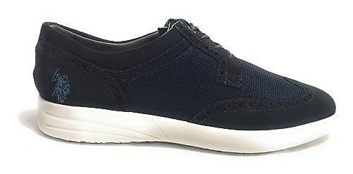 Scarpe UOMO US Polo Sneaker Casual Tristan Suede/Tessuto Dark Blue ...