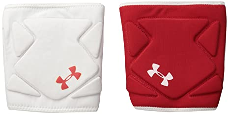 5e621f15f8 Amazon.com : Under Armour Switch Volleyball Knee Pad, White/Red/Red ...