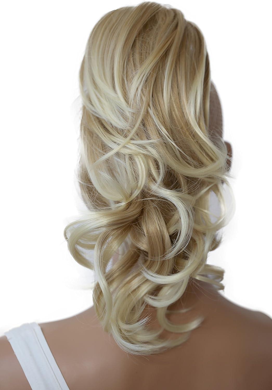 PRETTYSHOP Voluminosa corrugado peluca peluca trenza cola de caballo Cola de caballo fibra sintética 35 cm refractario mezcla rubia marrón H107