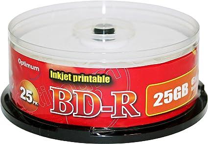 Inkjet Fullsurface-Printable 25 GB 4x 25 x BD-R
