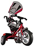 Kiddo Red Smart Design 4-in-1 Childrens Tricycle Kids Trike 3 Wheel Bike Parent New (Red)
