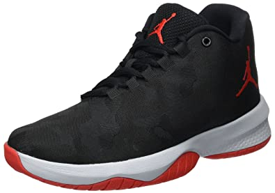 093c948d685 Jordan Kids B. Fly (GS) Black University RED WOLD Grey Size 4