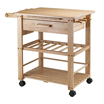Amazon.Com - Winsome Wood Finland Kitchen Cart - Kitchen Islands