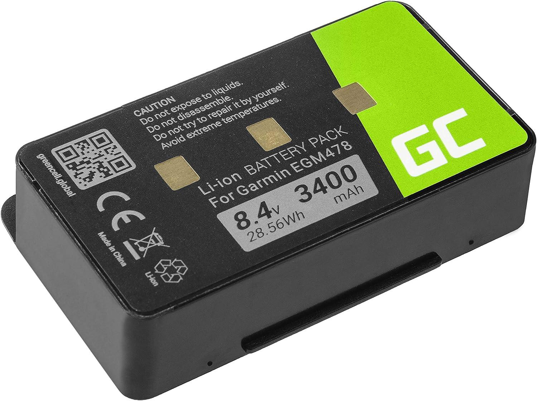 Green Cell ® 010-10517-00 011-00955-00 Batería para navegación GPS Garmin EGM478 GPSMAP 276 276c 296 376 376c 378 396 478 495 496 (Li-Ion Células 3400mAh 8.4V) electrónica