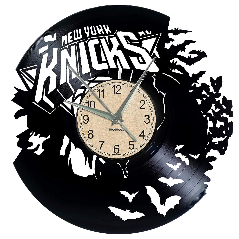 EVEVO New York Knicks Reloj de Pared Vinilo Tocadiscos Retro de ...