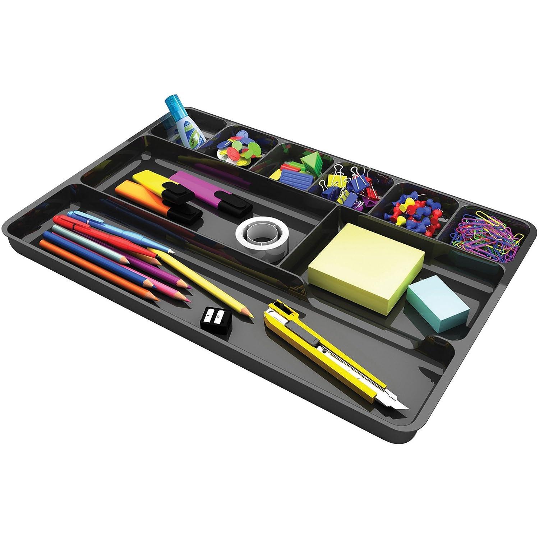Deflecto 38104 Drawer Organizer 14x9x1-1/8 Black Deflect-O