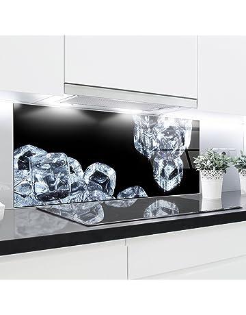 Paneles de cristal cocina Splashback – Bañador estampado resistente al calor vidrio endurecido 125 x 50