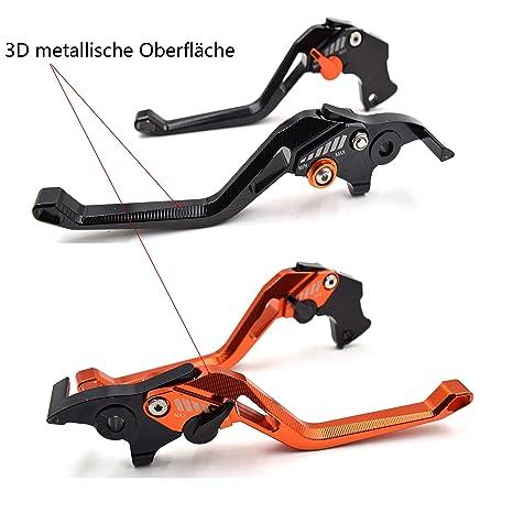 CNC Superficie metálica 3D Juego palancas de freno y embrague para Duke 125/RC125 2014