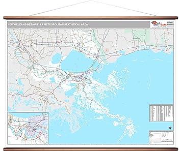 Amazon Com Marketmaps New Orleans Metairie La Metro Area Wall Map