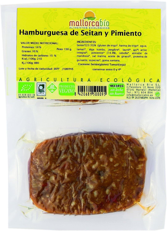 HAMBURGUESA SEITAN Y PIMIENTO 150 GR BIO: Amazon.es ...