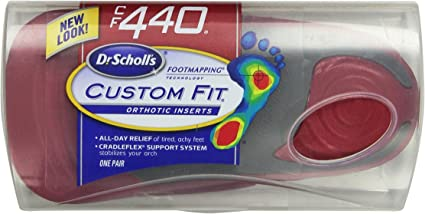 Dr. Scholl's Custom Fit Orthotic Inserts, CF 440, Red on dr scholl's massaging machine percushion, dr scholl's massager with heat, dr scholl's feet,