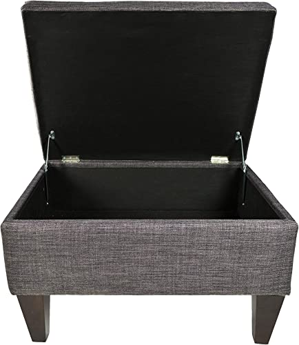 MJL Furniture Designs Brooklyn Collection Large Upholstered Living Room Lift Top Storage Ottoman