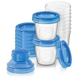 Philips Avent SCF618/10 - Set de recipientes para leche materna