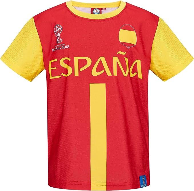2018 FIFA World Cup Chicos Camiseta Manga Corta - Rojo - 128: Amazon.es: Ropa y accesorios