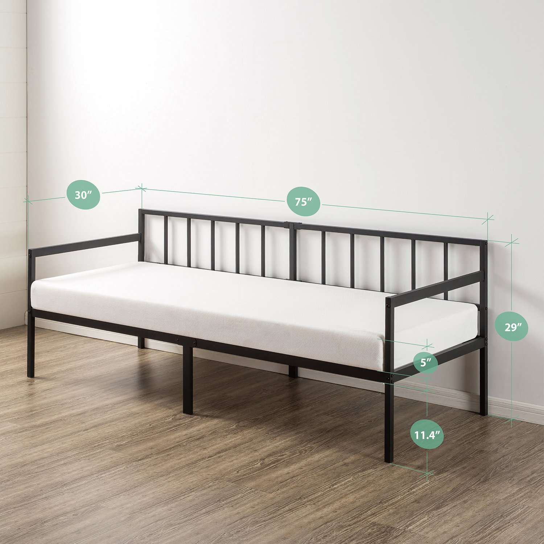 Zinus Newport 30 Inch Wide Day Bed Frame and Foam Mattress Set | eBay