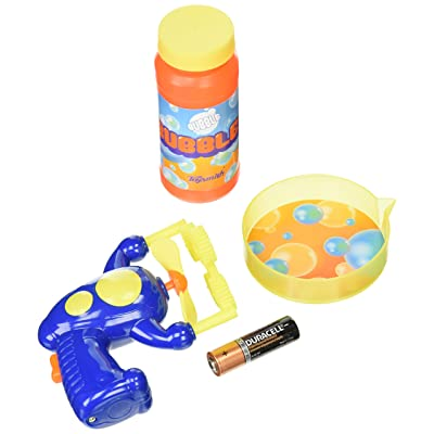 Toysmith Many Bubbles Mini Ray Gun (Colors may vary): Toys & Games