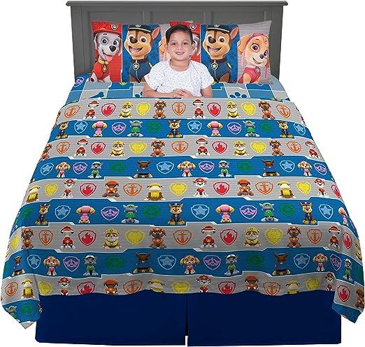 Amazon Com Franco Kids Bedding Super Soft Sheet Set 4 Piece Full Size Paw Patrol Home Kitchen