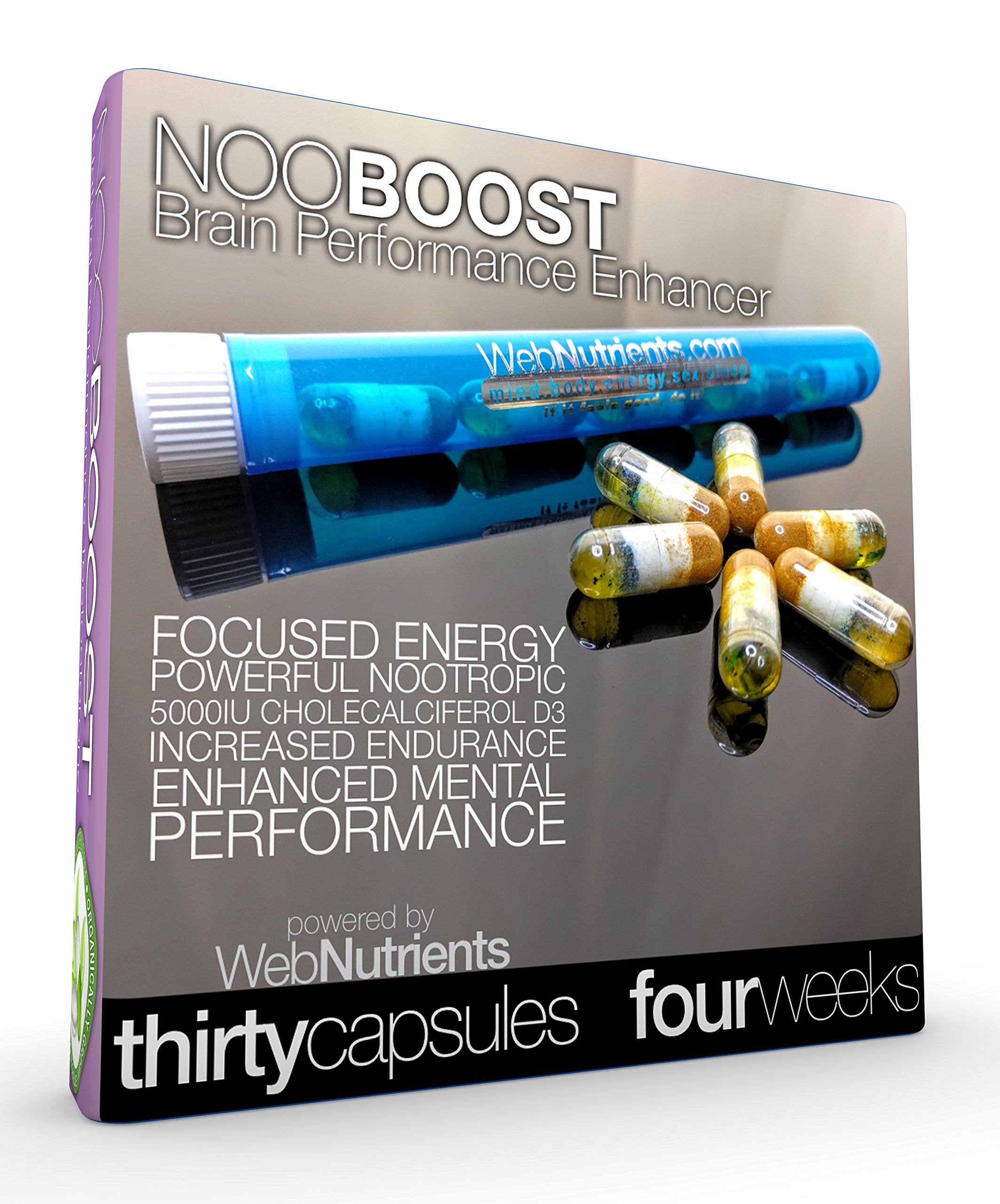 NooBoost - 30 Powerful Nootropic Booster Caps - The Brain and Body Booster  for NZT-