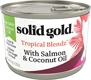 product image for Solid Gold Tropical Blendz Pate with Coconut Oil - Grain-Free Holistic Wet Cat Food with Real Meat