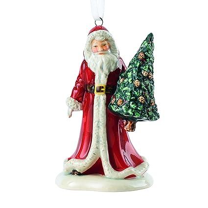 "Royal Doulton 3.1"" Santa with Tree Ornament - Amazon.com: Royal Doulton 3.1"