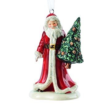 Image Unavailable. Image not available for. Color: Royal Doulton  Traditional Christmas Santa with Tree Ornament ... - Amazon.com: Royal Doulton Traditional Christmas Santa With Tree