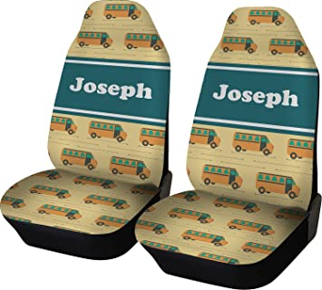 Amazoncom School Bus Car Seat Covers Set Of Two Personalized