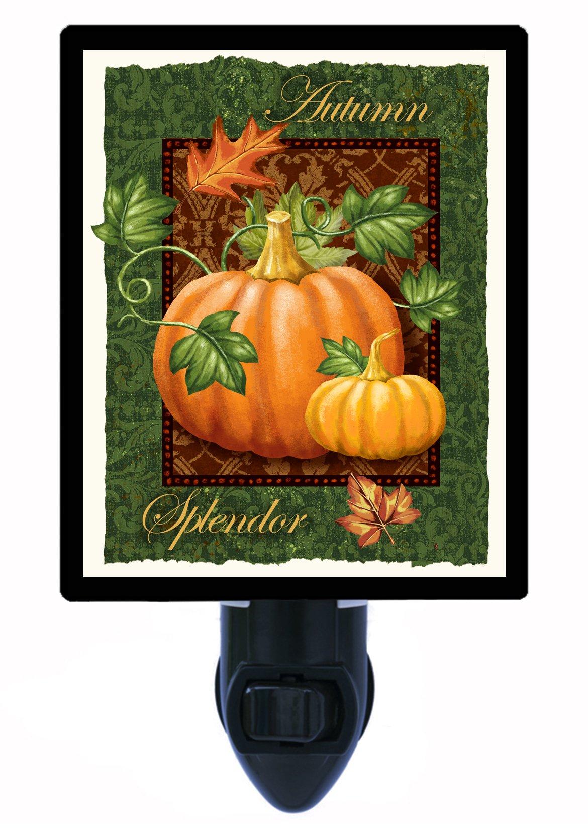 Fall and Autumn Night Light - Autumn Splendor - Pumpkin