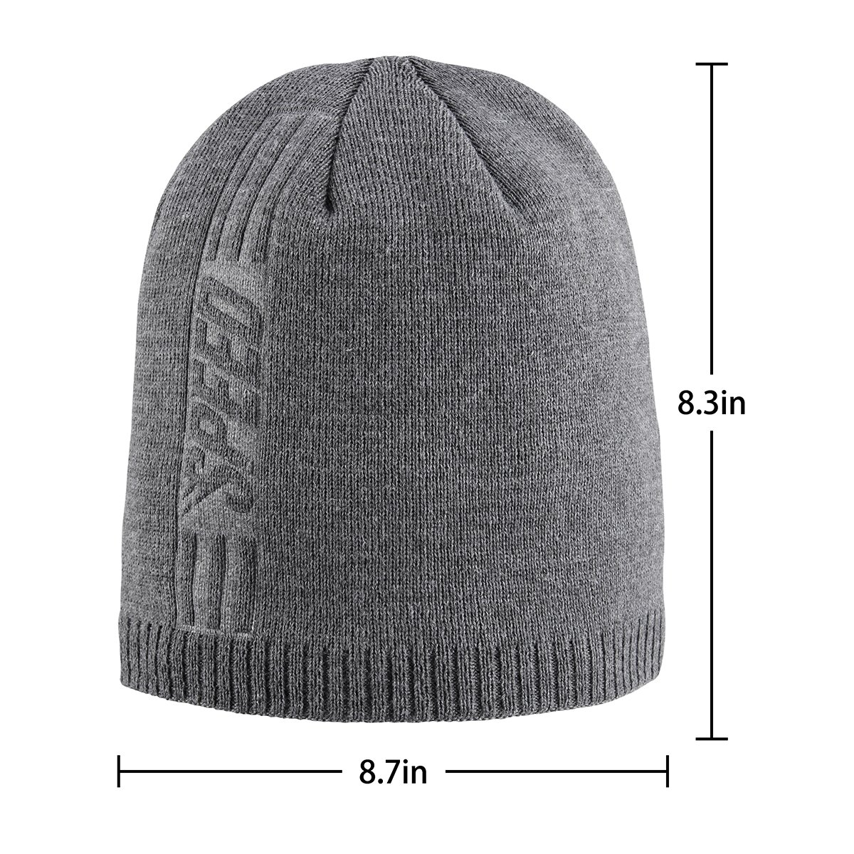 Bodvera Mens Winter Warm Knit Beanie Hats Tactical Fleece Plain Toboggan Ski Skull Cap 3 Colors