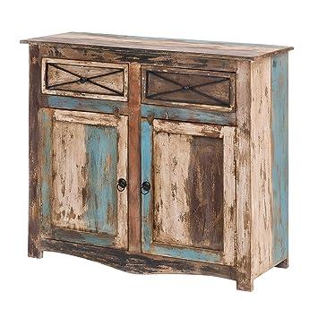 Mobel Ideal Kommode Vintage Holz Bunt Massiv Bemalt Lackiert 100 Cm