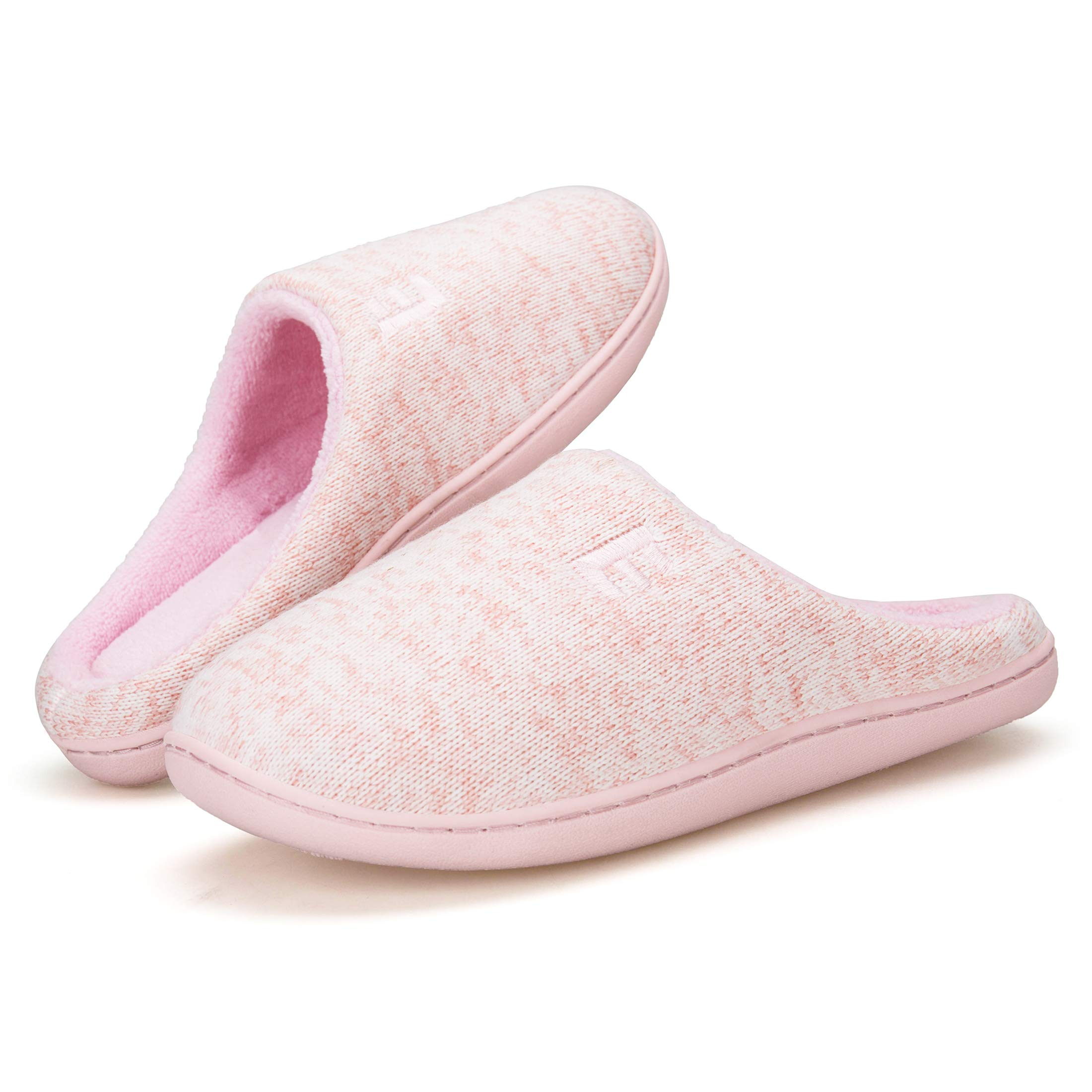7100cb5a75e3 Men s and Women s Memory Foam House Slippers Soft Sole Anti-Slip Slippers  Indoor Shoes ELMT004