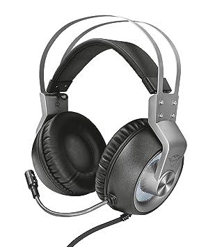 Trust GXT 4376 - Ruptor Auriculares Gaming con Unidades acústicas de 50 mm, Sonido Envolvente 7.1 e iluminación, Gris: Amazon.es: Informática