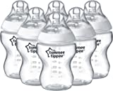 Tommee Tippee Closer to Nature Feeding Bottles, 260 ml/9 floz, Pack of 6