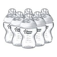 Tommee Tippee Closer to Nature Clear Bottles, 260 ml, 6 Count