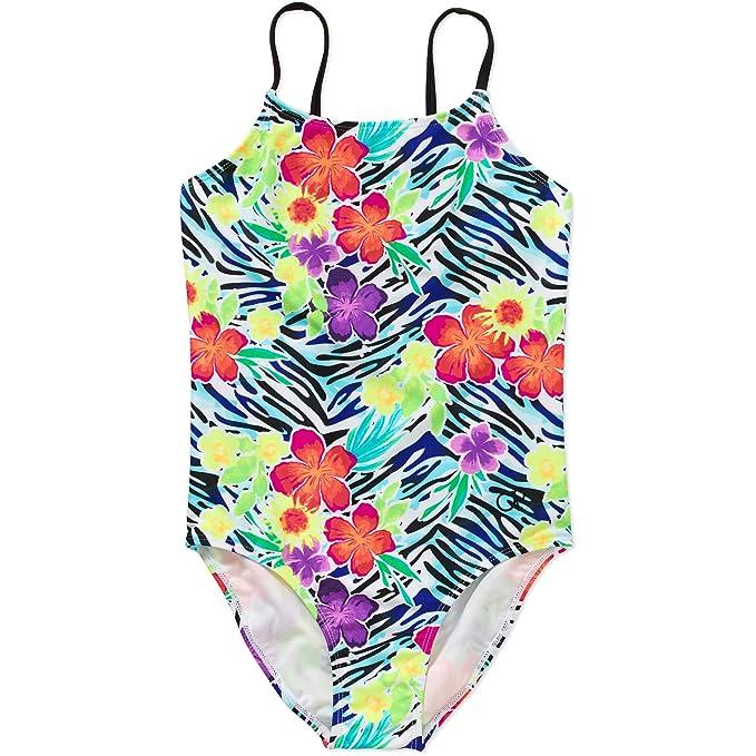 b88e15bb80 Amazon.com: OP Beach Front Girls One Piece Swimsuit (X-Small 4/5 ...