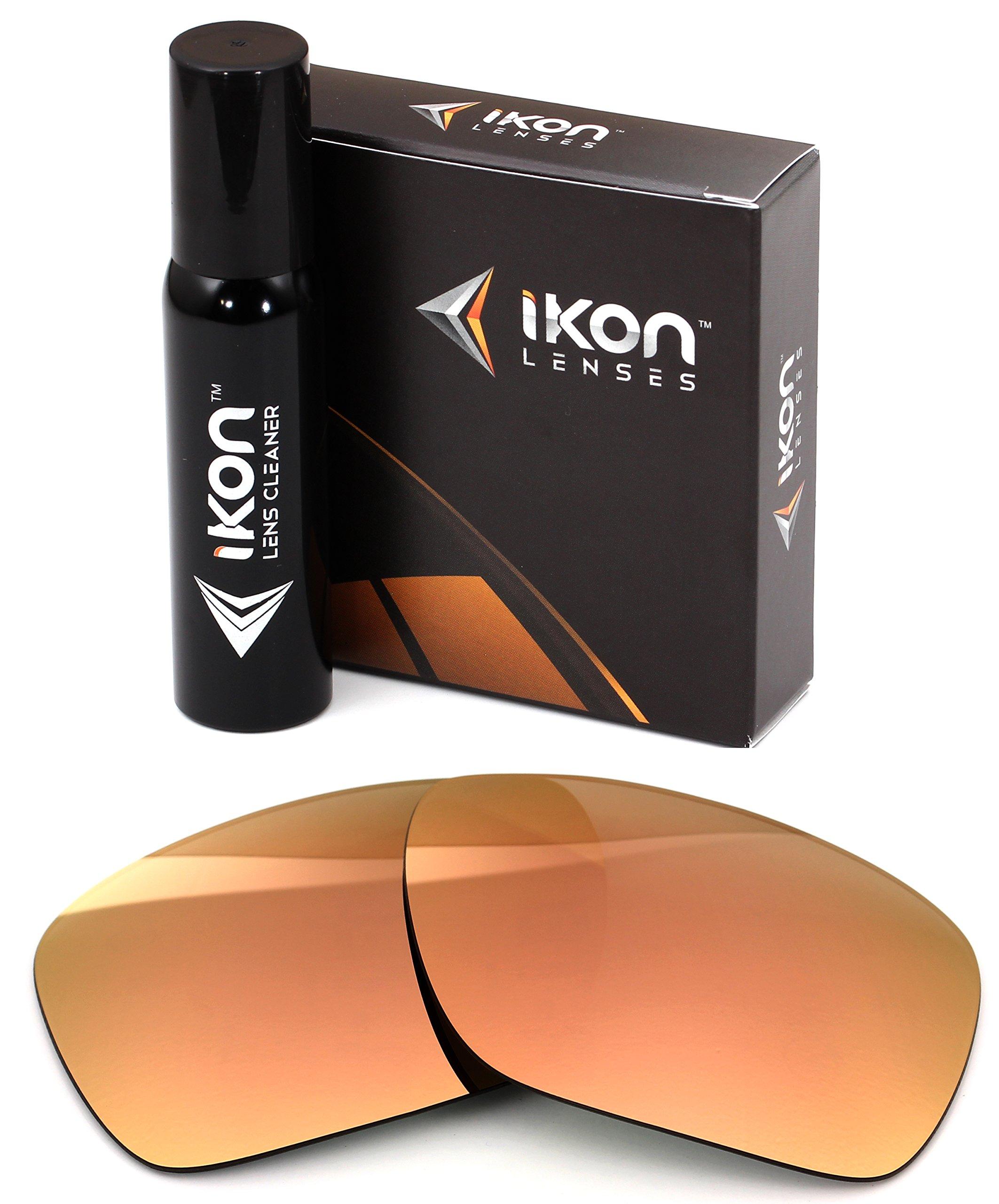 Ikon Lenses Polarized IKON Replacement Lenses For Von Zipper Metal Stache Sunglasses - Rose Gold